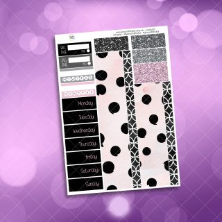 Black Friday Washi and Date Cover Stickers