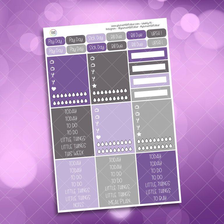 Mystic Purple Roses Header Stickers