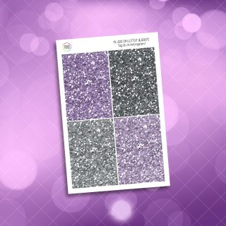 Mystic Purple Roses Glitter Headers Add On