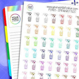 Spray Bottle Planner Stickers