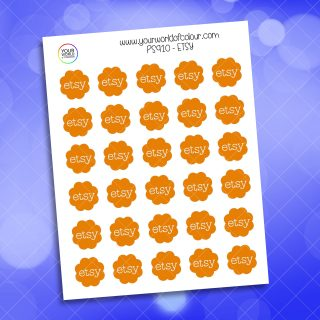Etsy Planner Sticker