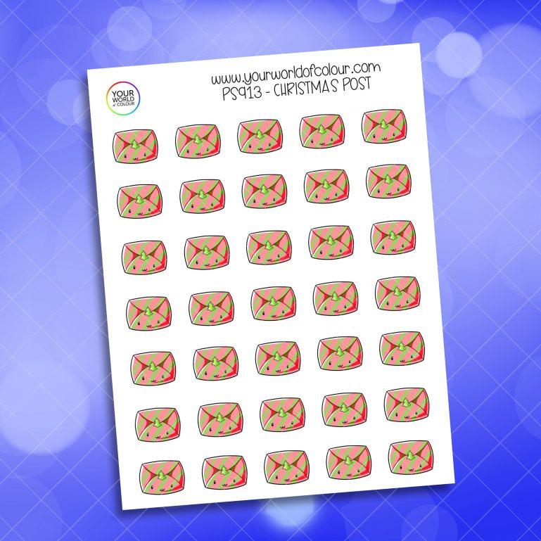 Christmas Post Planner Sticker