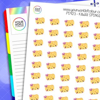 Kawaii Sponge Planner Stickers