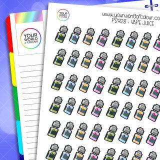 Vape Juice Planner Stickers
