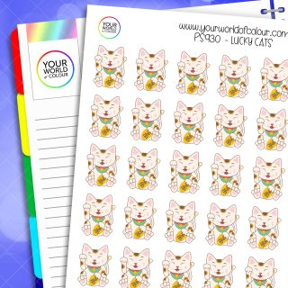 Lucky Cat Planner Stickers