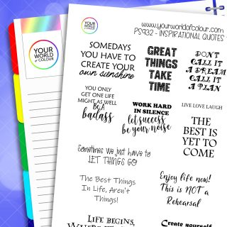 Inspirational Quotes Planner Sticker