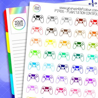 PlayStation Controller Planner Stickers