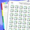 Asda Delivery Planner Stickers