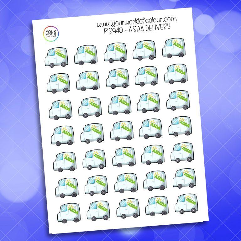 Asda Delivery Planner Sticker