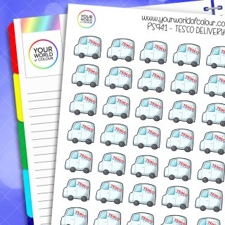 Tesco Delivery Planner Stickers