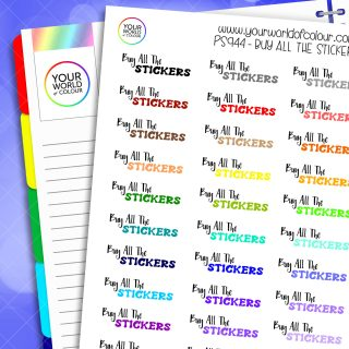 Buy All The Stickers Planner Stickers