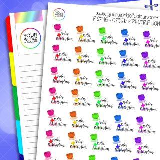 Order Prescription Planner Stickers