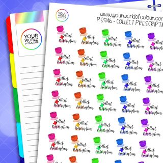 Collect Prescription Planner Stickers
