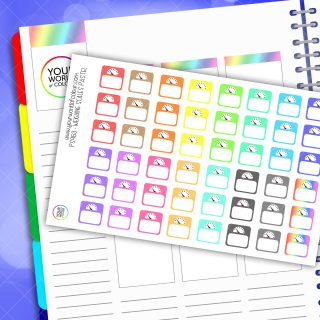 Weighing Scales Planner Stickers - Pastel