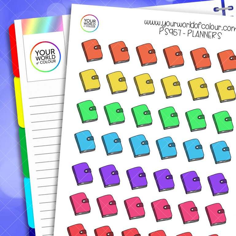 Rainbow Planners Planner Stickers