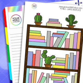 Large Bookcase Planner Sticker