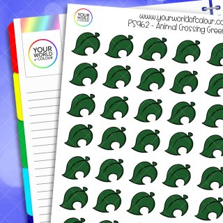 Animal Crossing Leaf Planner Stickers