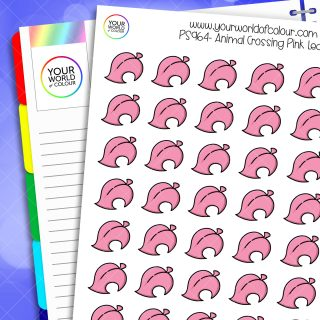 Animal Crossing Leaf Planner Stickers - Pink