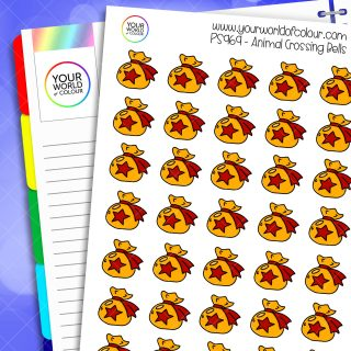 Animal Crossing Bells Planner Stickers