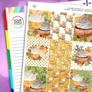 Pumpkin Spice Erin Condren Weekly Planner Sticker Kit