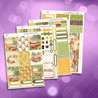 Pumpkin Spice Full Four Sheet Weekly Planner Sticker Kit