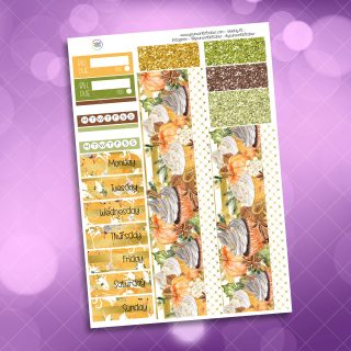 Pumpkin Spice Washi and Date Cover Stickers