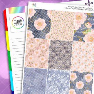 Blush Floral Erin Condren Weekly Planner Sticker Kit