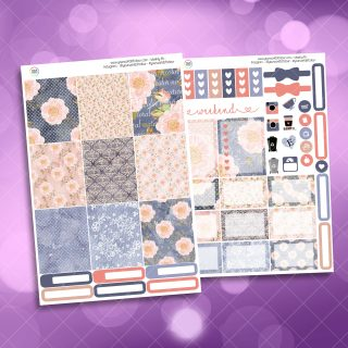 Blush Floral Two Sheet Weekly Planner Sticker Kit