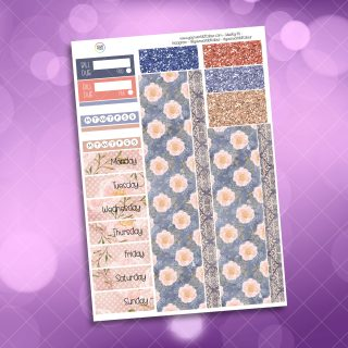 Blush Floral Washi and Date Cover Stickers