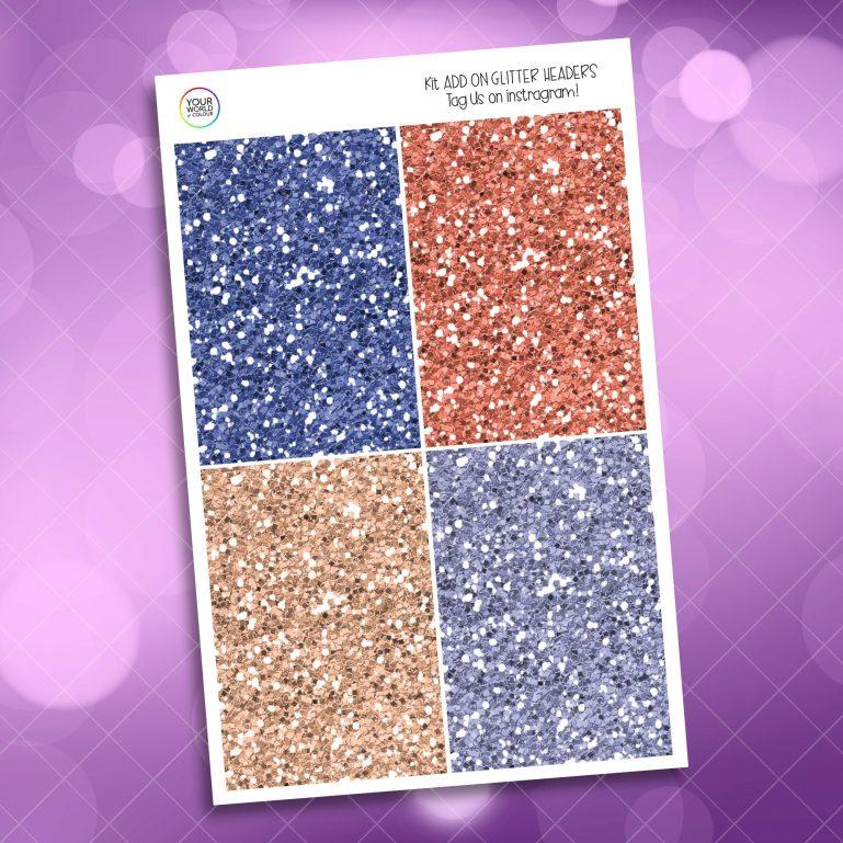 Blush Floral Glitter Headers Add On