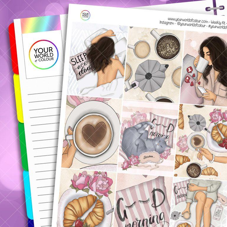 Good Morning Erin Condren Weekly Planner Sticker Kit