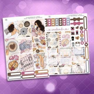 Good Morning Two Sheet Weekly Planner Sticker Kit