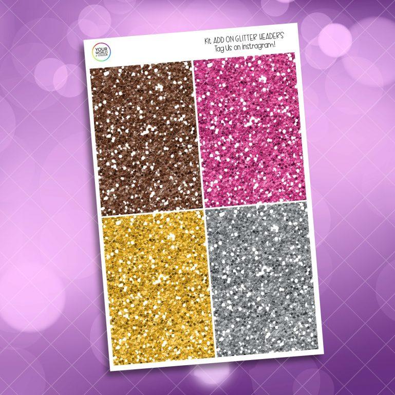 Good Morning Glitter Headers Add On
