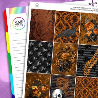 Black Night Erin Condren Weekly Planner Sticker Kit