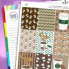 Coffee Erin Condren Weekly Planner Sticker Kit