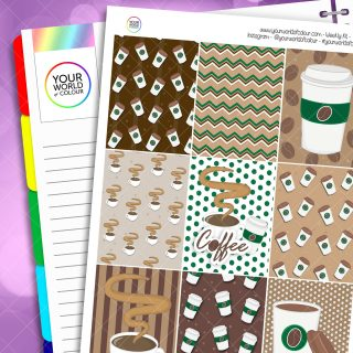 Coffee Erin Condren Weekly Planner Sticker Kit