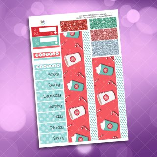 Peppermint Latte Washi and Date Cover Stickers