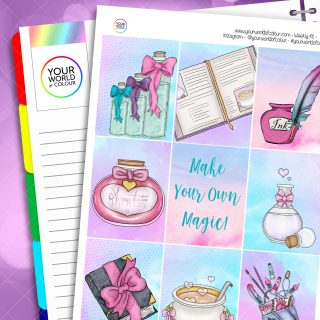Make Magic Erin Condren Weekly Planner Sticker Kit