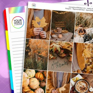 Autumn Thankfulness Erin Condren Weekly Planner Sticker Kit