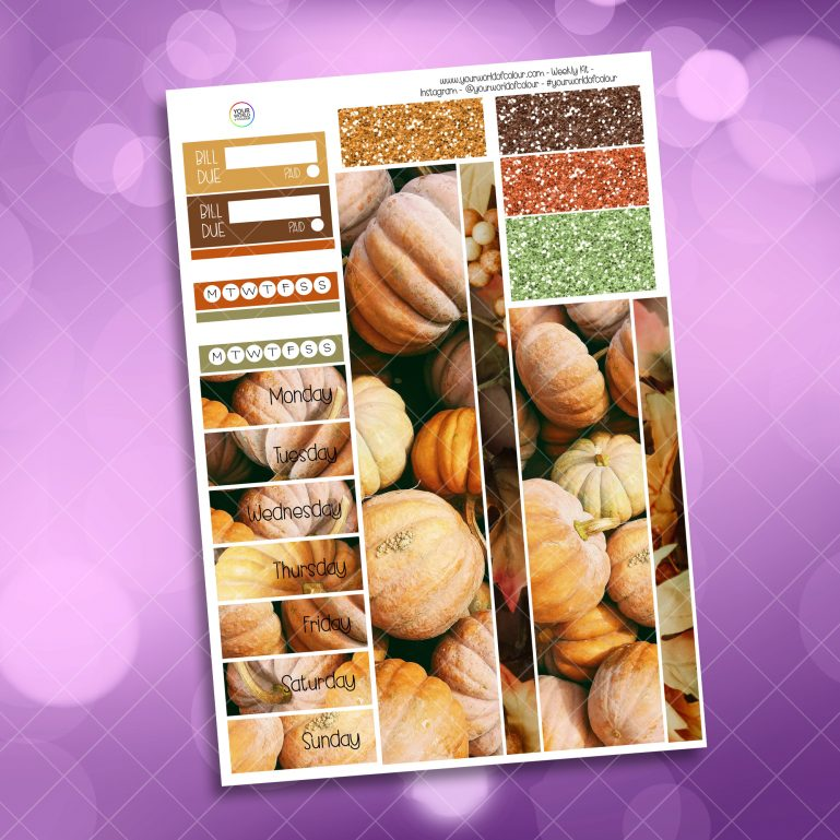 Autumn Thankfulness Washi and Date Cover Stickers