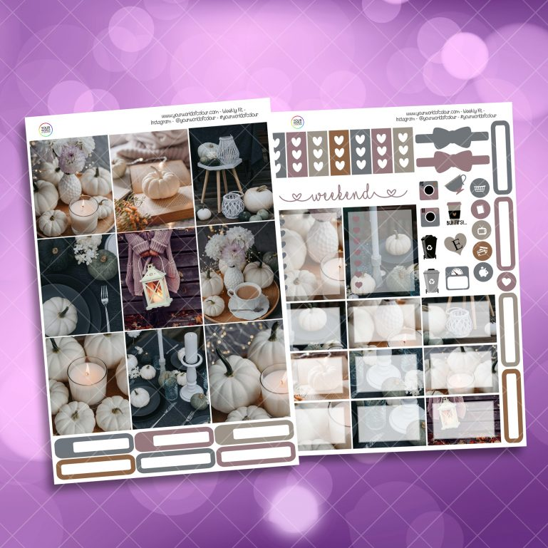 Calm Two Sheet Weekly Planner Sticker Kit