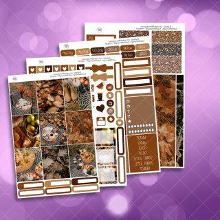 Autumn Picnic Full Four Sheet Weekly Planner Sticker Kit