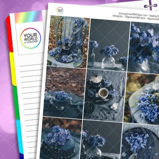 Blueberry Floral Erin Condren Weekly Planner Sticker Kit