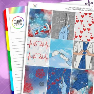 Life Line Weekly Planner Sticker Kit