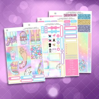 Candy Girl Full Four Sheet Weekly Planner Sticker Kit