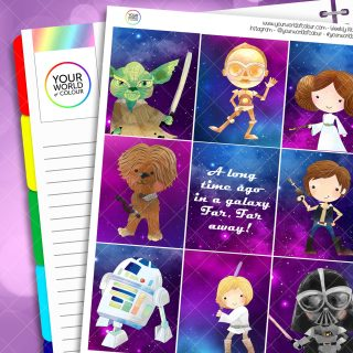 Galactic Star Weekly Planner Sticker Kit