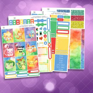 Choose You Full Four Sheet Weekly Planner Sticker Kit