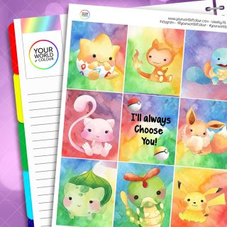 Choose You Weekly Planner Sticker Kit