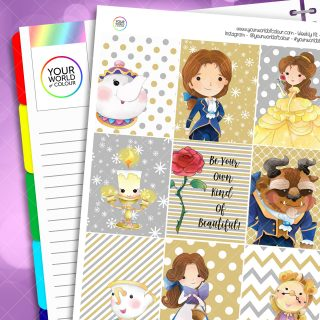 Tale As Old As Time Weekly Planner Sticker Kit