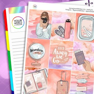 Adventure Awaits Weekly Planner Sticker Kit